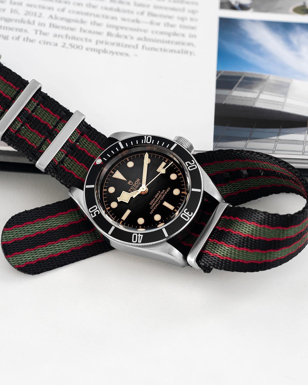 james bond nato strap tudor black bay theblackdial