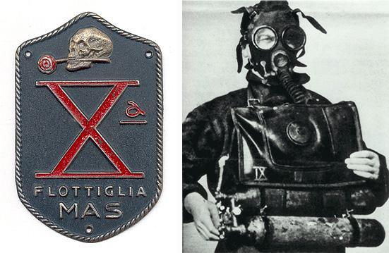 Logodcima Flottiglia MAS und italienischer Kampfschwimmer