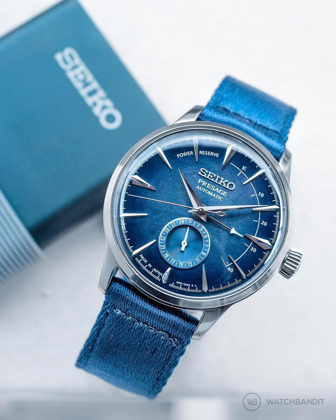 Seiko Persage Nato Blue