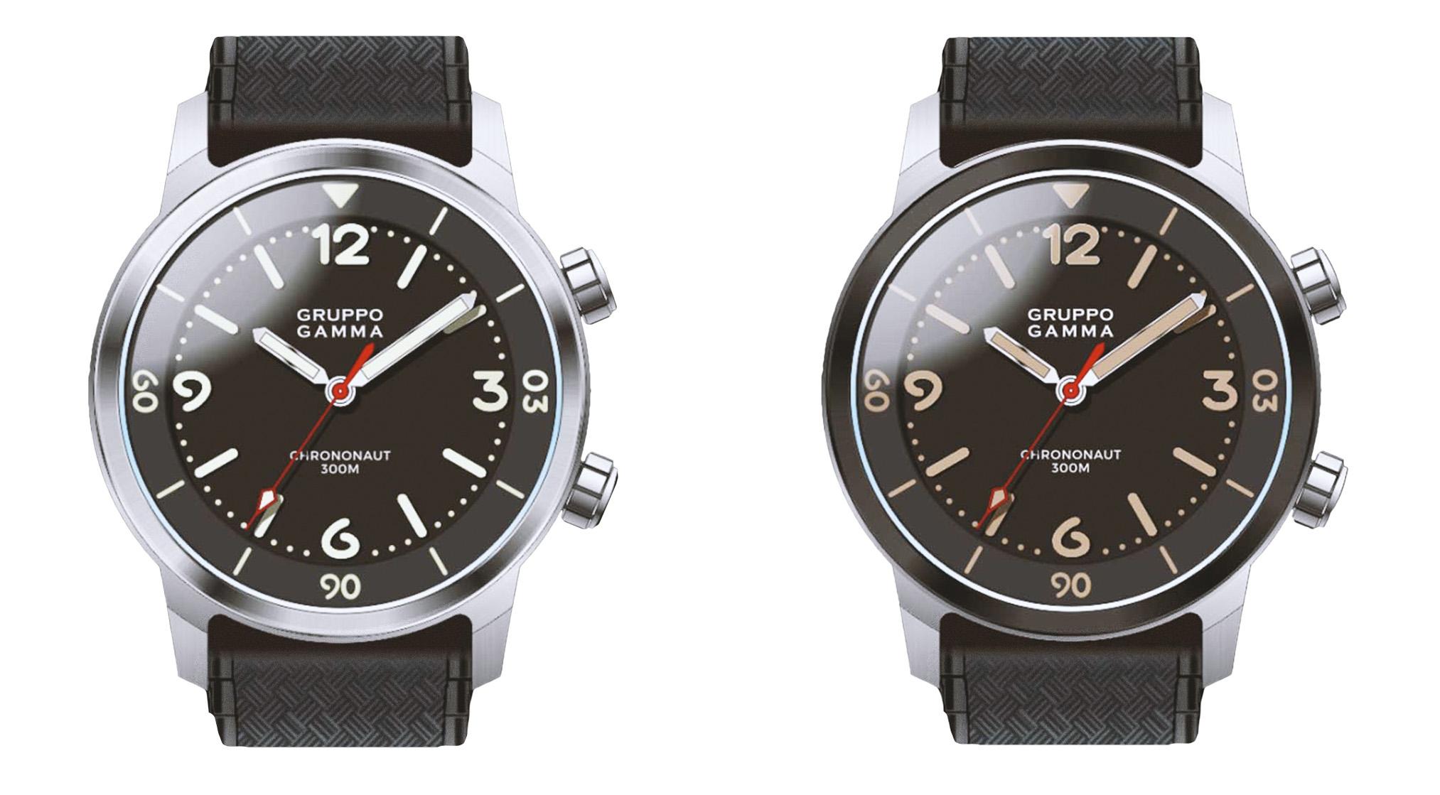 Gruppo Gamma Chrononaut Modelle c01 und c01r watchbandit