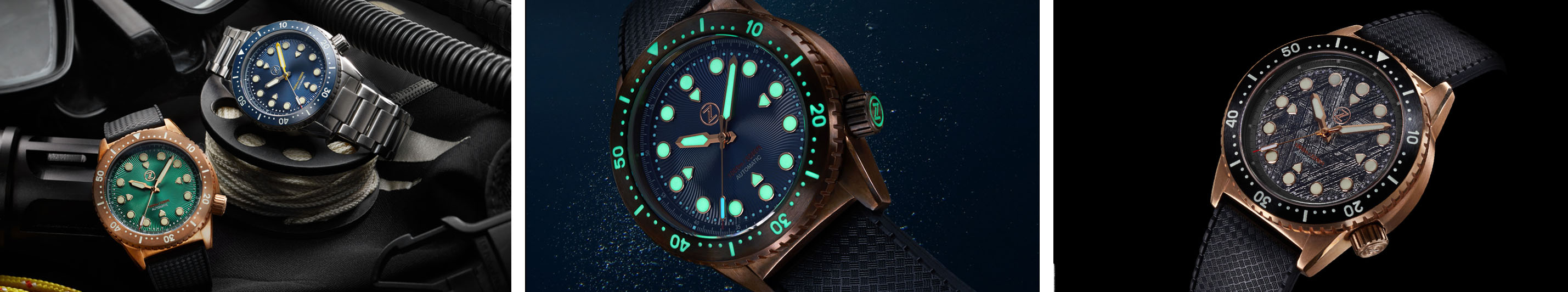 Zelos Great White 1000 m Dive watch banner