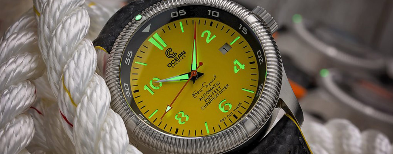 Ocean Crawler Champion Diver yellow lume on ropes