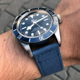 Tudor Heritage Black Bay Blue Canvas Uhrenarmband blau