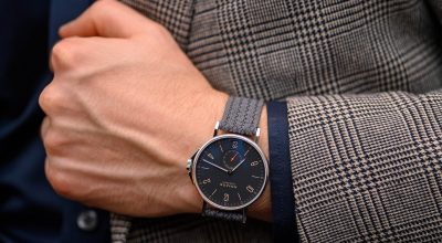 Nomos Ahoi Atlantic Date on WatchBandit Eulit Perlon strap