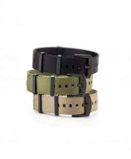 Watchbandit WB original Wristporn Nato straps bundle green khaki and black