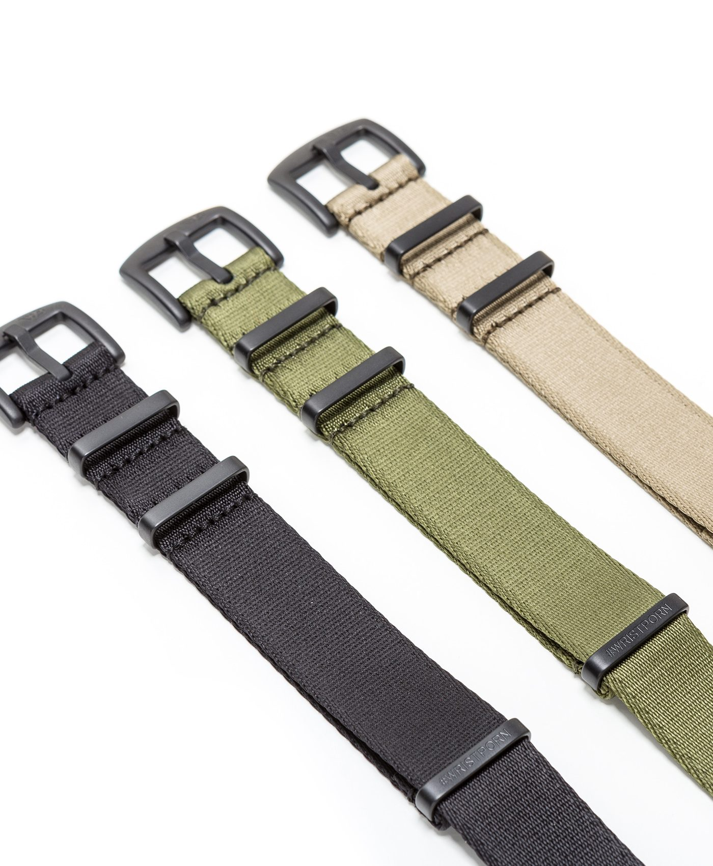 Watchbandit WB original Wristporn Nato straps bundle side view