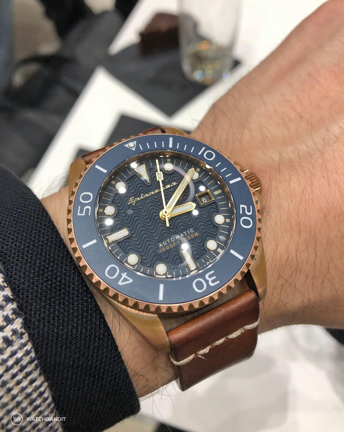 Wristrockers Spinnaker Tesei SP-5060-03 Bronze Watchbandit