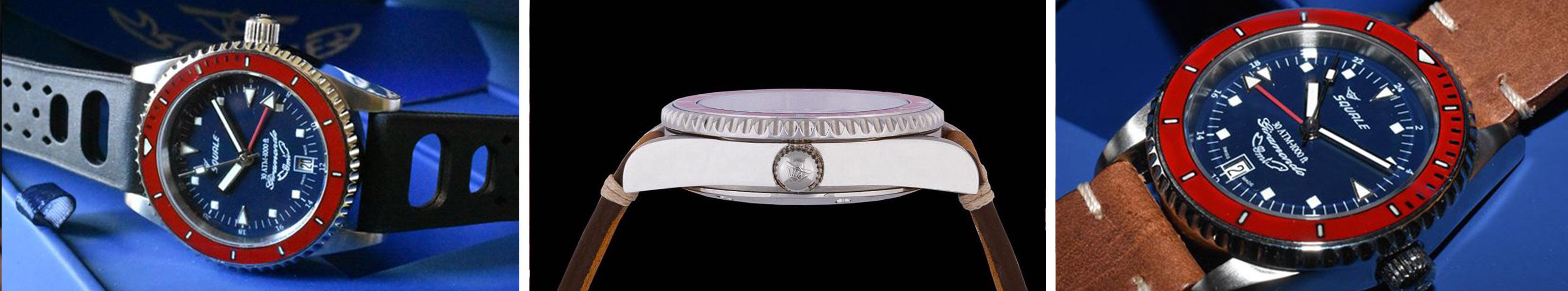 Squale Giramondo GMT Watchbandit Nachaufnahmen aus verschiedenen Winkeln