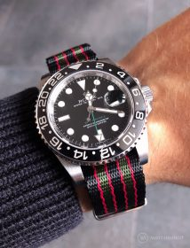 Rolex GMT Master II am James Bond NATO by @gmtfanatic
