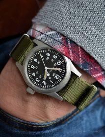 Hamilton Khaki am NATO Grün Armband by @mymechanicalwrist