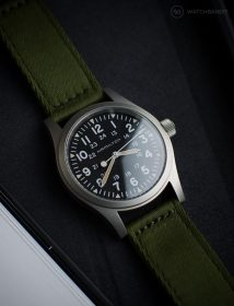 Hamilton Khaki a grünem WB Original two-piece NATO by @mymechanicalwrist