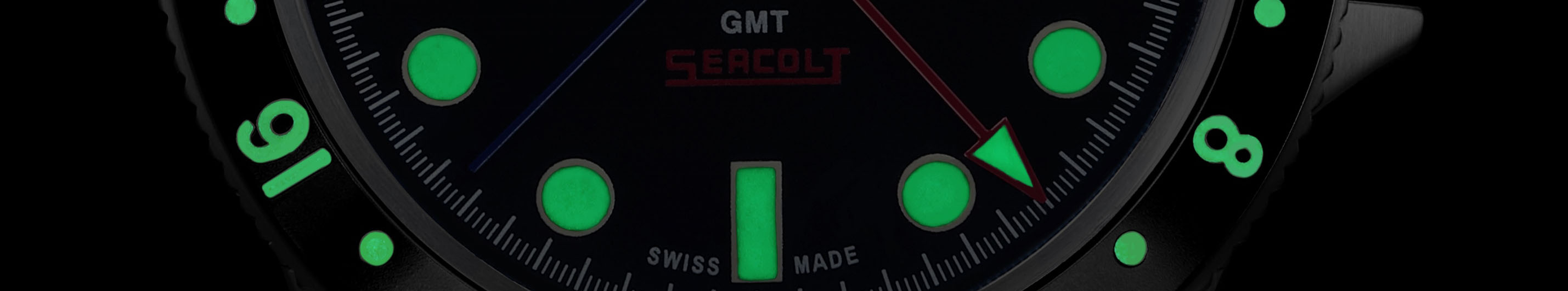 LeJour Seacolt GMT lume close up banner