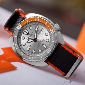 Seiko Turtle Dawn Grey schwarz orange Nato WB Original by @tempusx