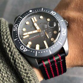 Spinnaker Croft Bond zweiteiliges Nato Uhrenarmband WB Original
