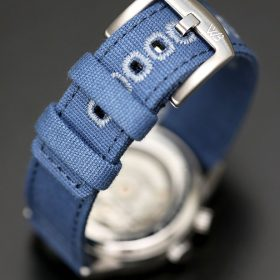 WB Original Canvas Uhrenarmband blau gebürstete Edelstahl-Schließe
