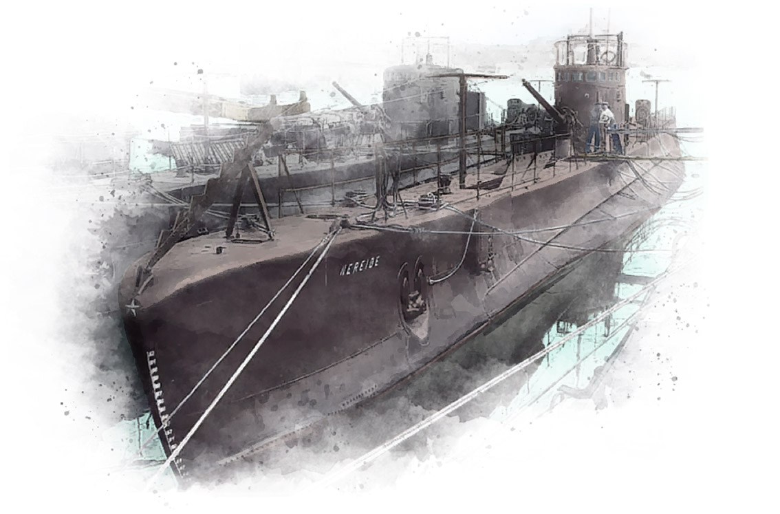 Nereide submarine sketch