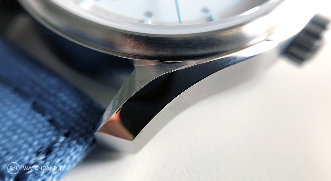 Martenero watches Kerrison Silver polished lugs close up