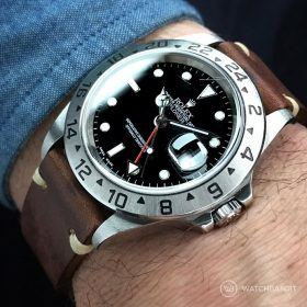 Rolex Explorer II WB original vintage leather wristshot