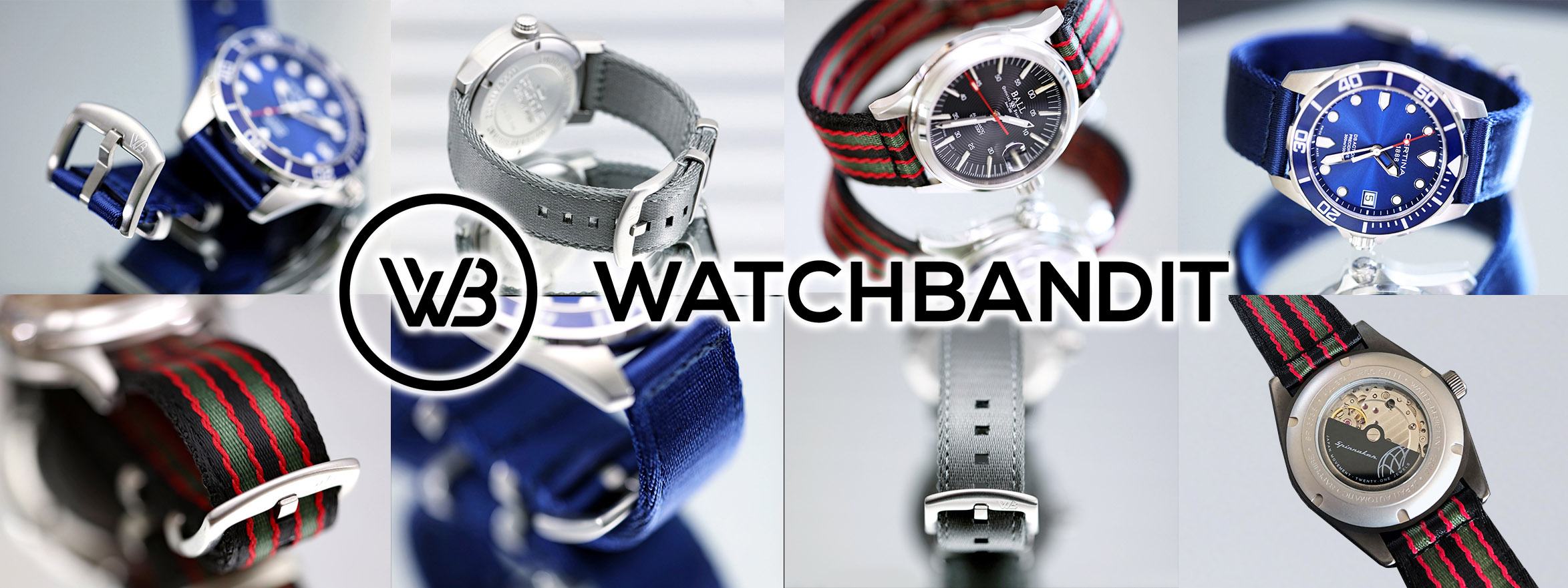 Watchbandit Original Two Piece NATO Strap collection banner