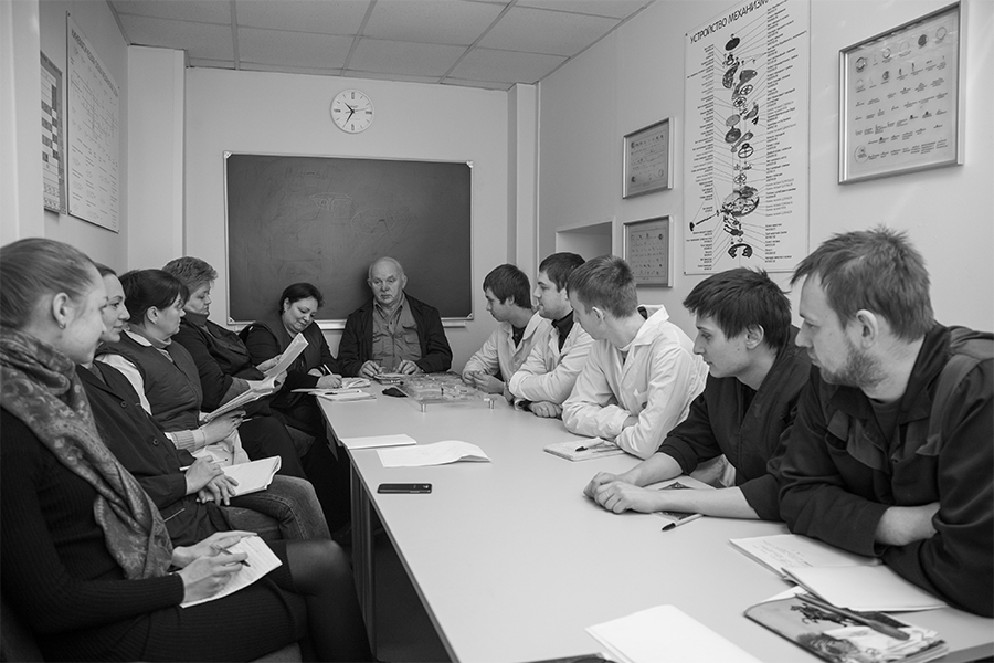 Raketa watches watchmaking school meeting