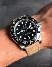 Rolex GMT Master II am beigen Canvas Uhrenarmband von Watchbandit