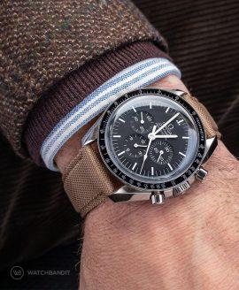 Watchbandit khaki Cordura strap Omega Speedmaster Professional