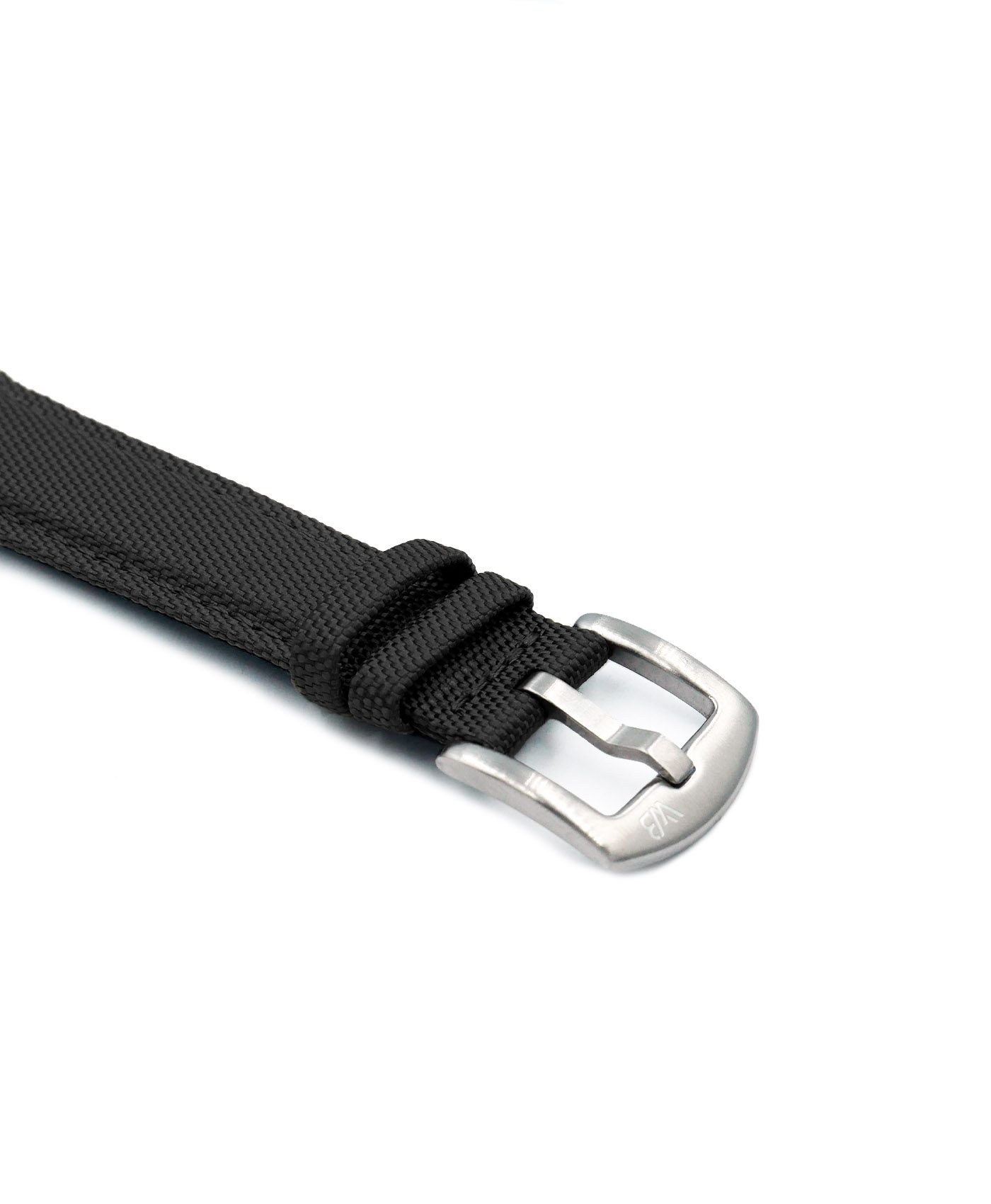 Cordura Watch Strap Black stainless steel buckle by Watchbandit