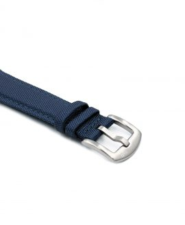 Cordura Watch Strap Navy Blue stainless steel buckle by Watchbandit