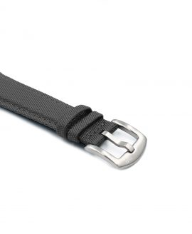 Cordura Watch Strap dark grey stainless steel buckle by Watchbandit