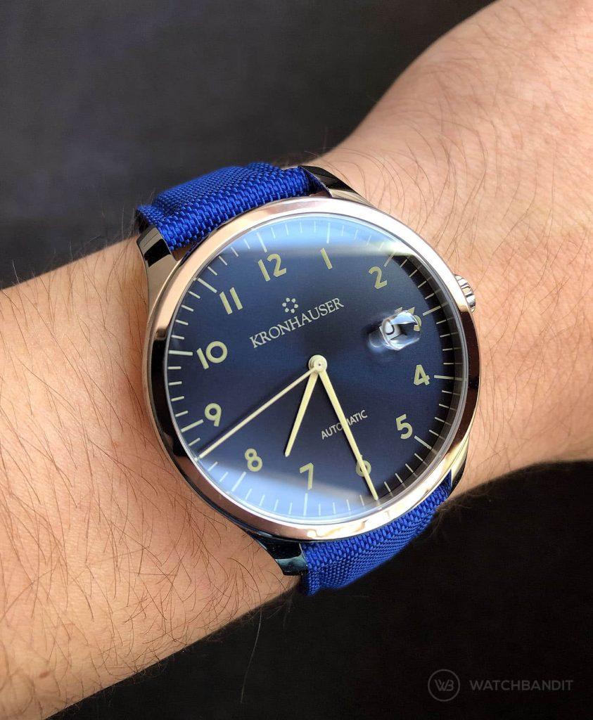 Kronhauser Blue Watchbandit Cordura strap blue