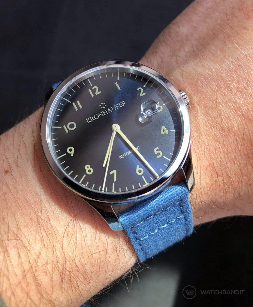 Kronhauser Blue Watchbandit canvas strap blue