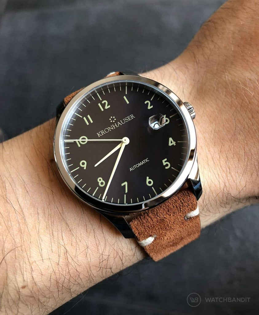 Kronhauser Blue Watchbandit suede leather brown