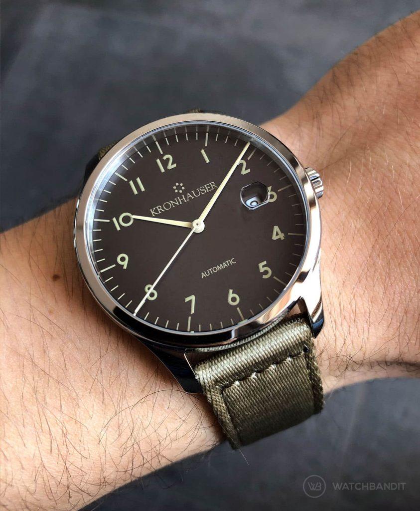 Kronhauser Blue Watchbandit two piece nato beige