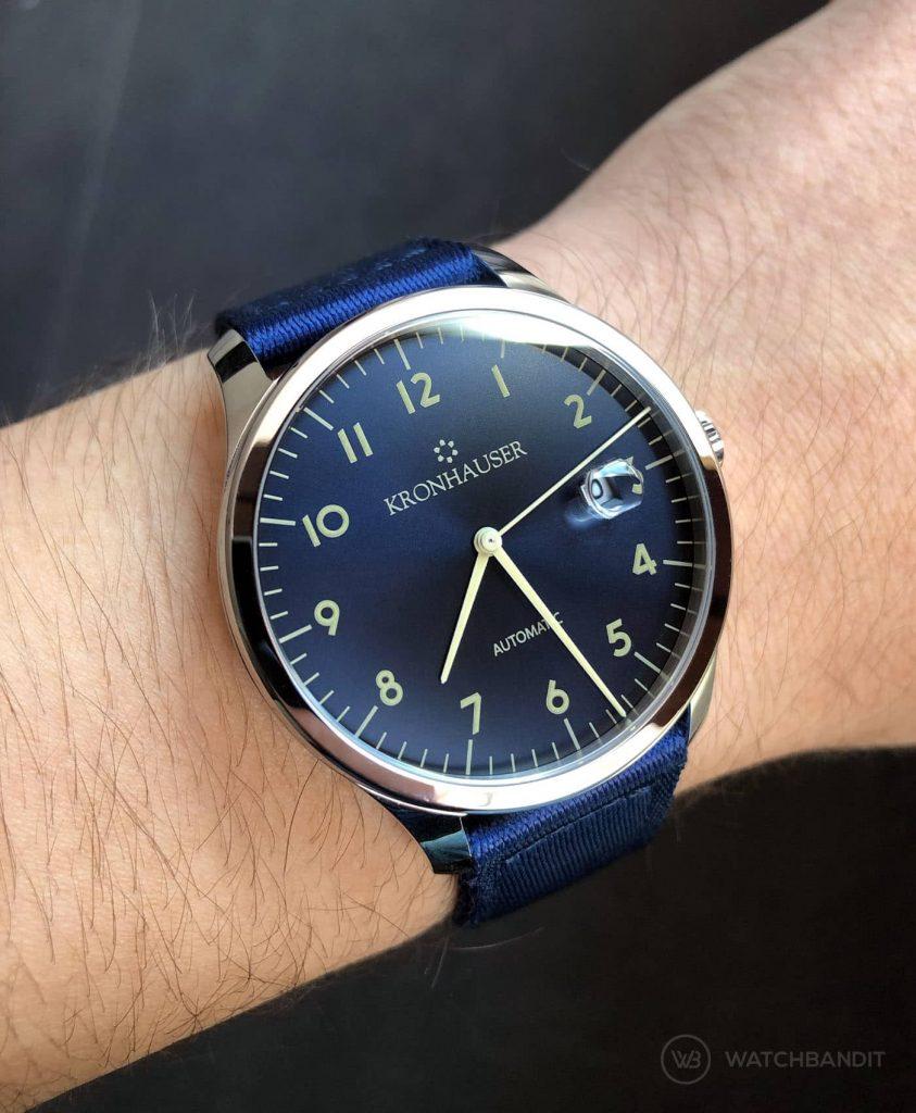 Kronhauser Blue Watchbandit two piece nato blue