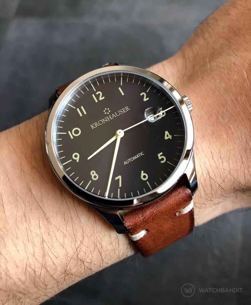 Kronhauser Blue Watchbandit vintage leather brown