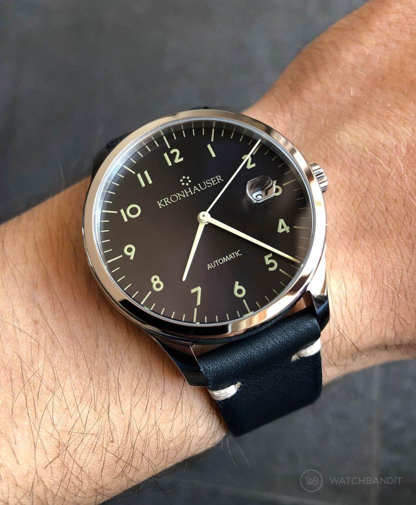 Kronhauser Blue Watchbandit vintage leather midnight blue