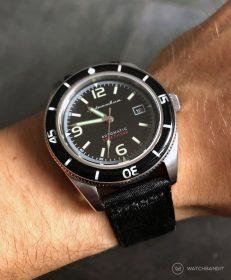 Spinnaker Fleuss SP-5055-02 am schwarzen two-piece NATO von WatchBandit
