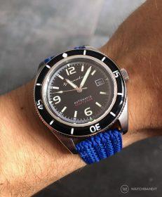 Spinnaker Fleuss SP-5055-02 am blauen Eulit-Palma Perlon WatchBandit