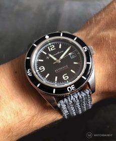 Spinnaker Fleuss SP-5055-02 am grauen Eulit-Palma Perlon WatchBandit