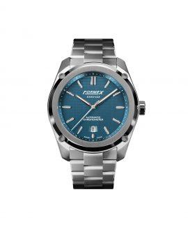 Formex Essence Automatic Chronometer Blue Stainless Steel Bracelet
