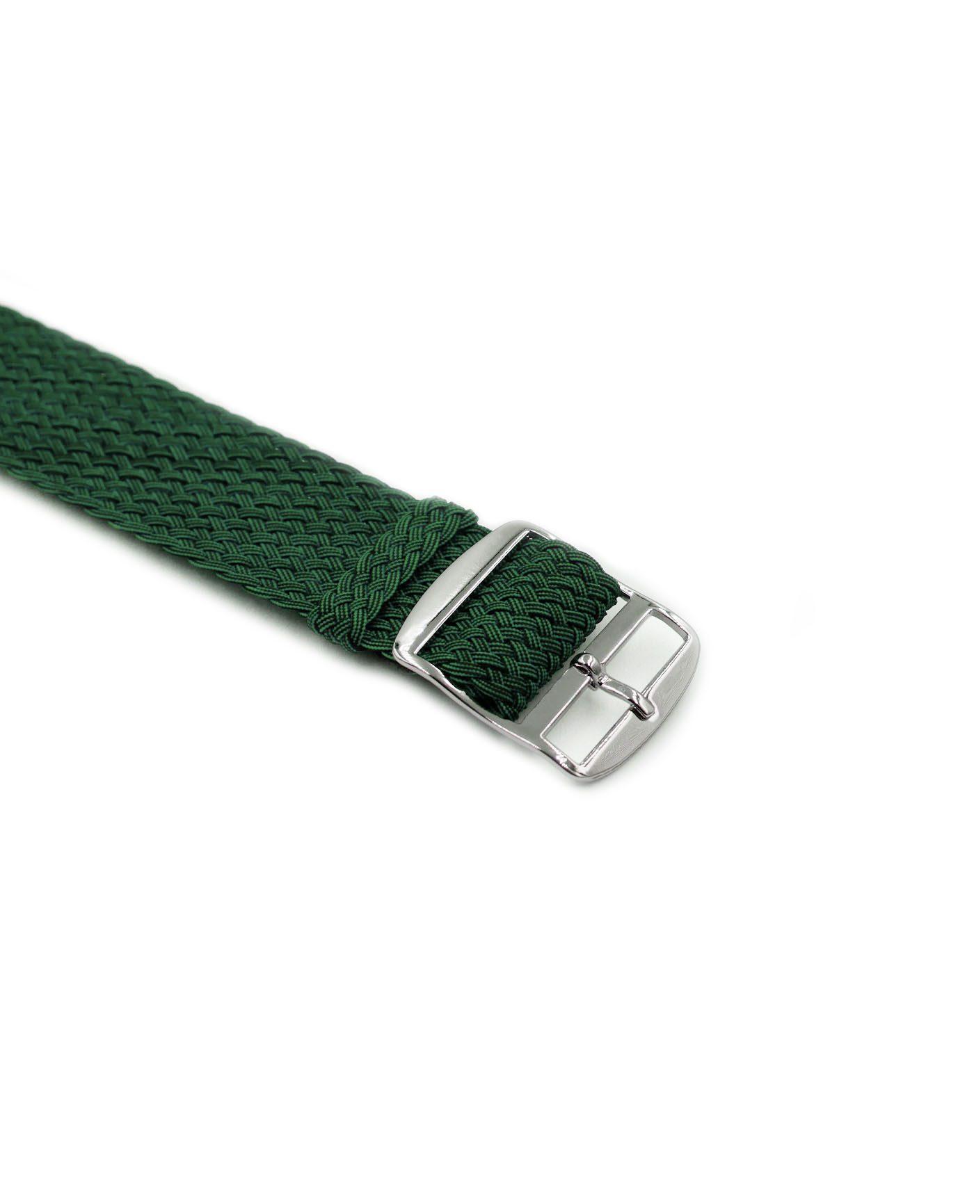 Watchbandit Premium Perlon Watch strap green buckle