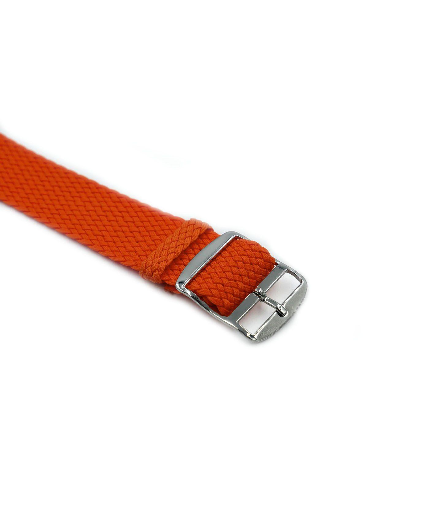 Watchbandit Premium Perlon Watch strap orange buckle