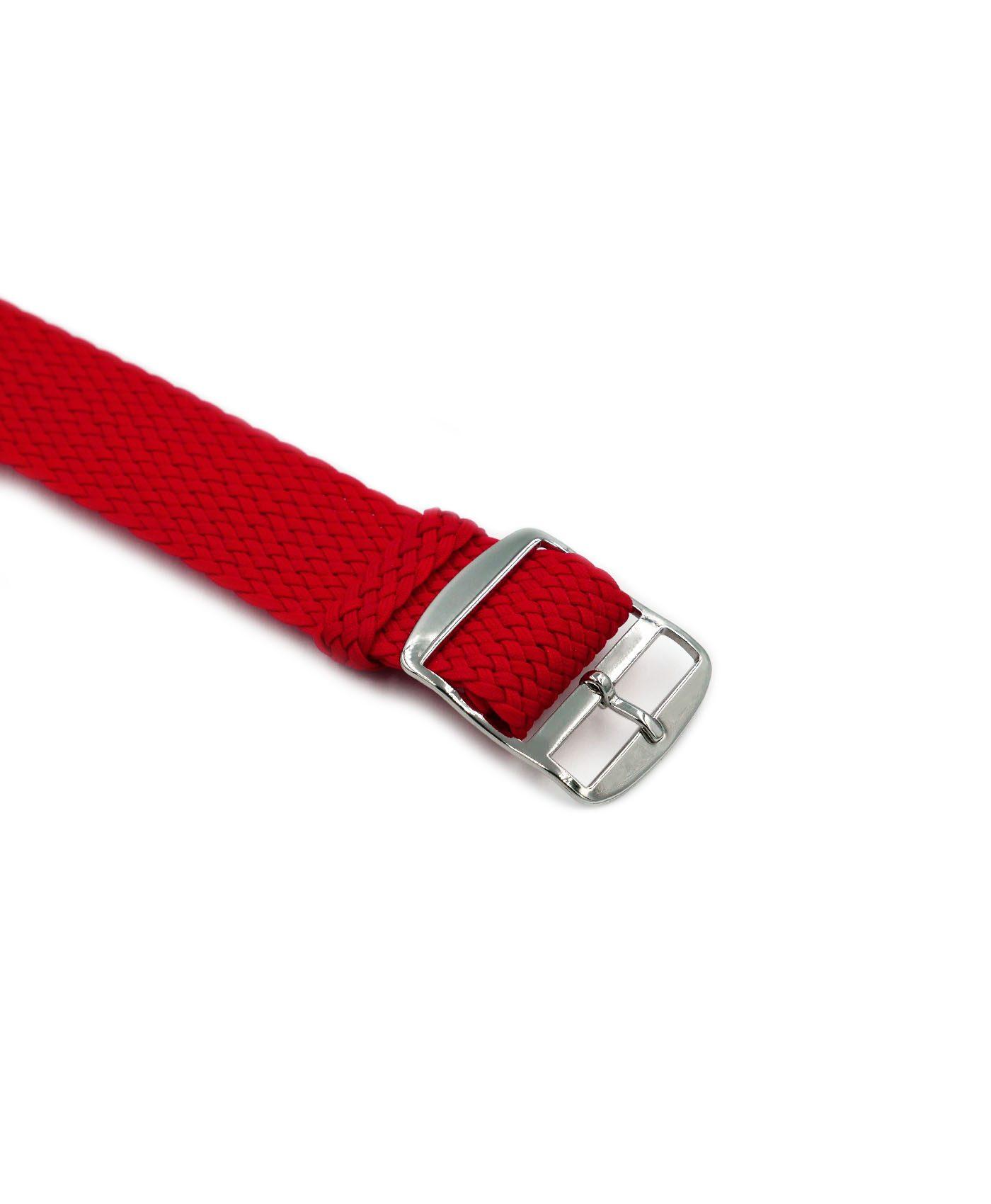 Watchbandit Premium Perlon Watch strap red buckle