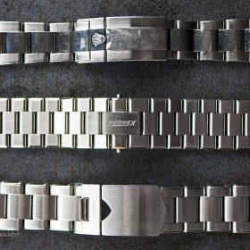 Vergleich von Formex-, Rolex- und Tudor Edelstahlarmbänder