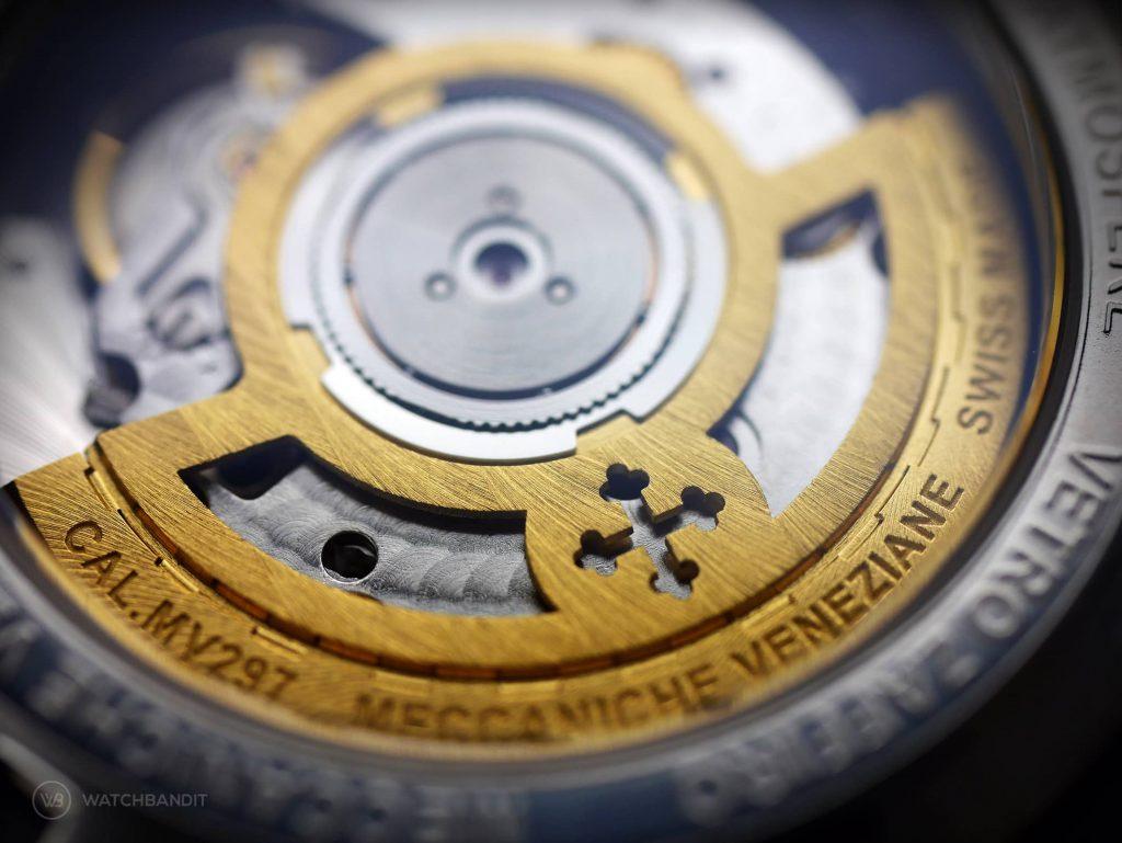 Meccaniche Veneziane Nereide GMT caliber MV285 Sellita SW200