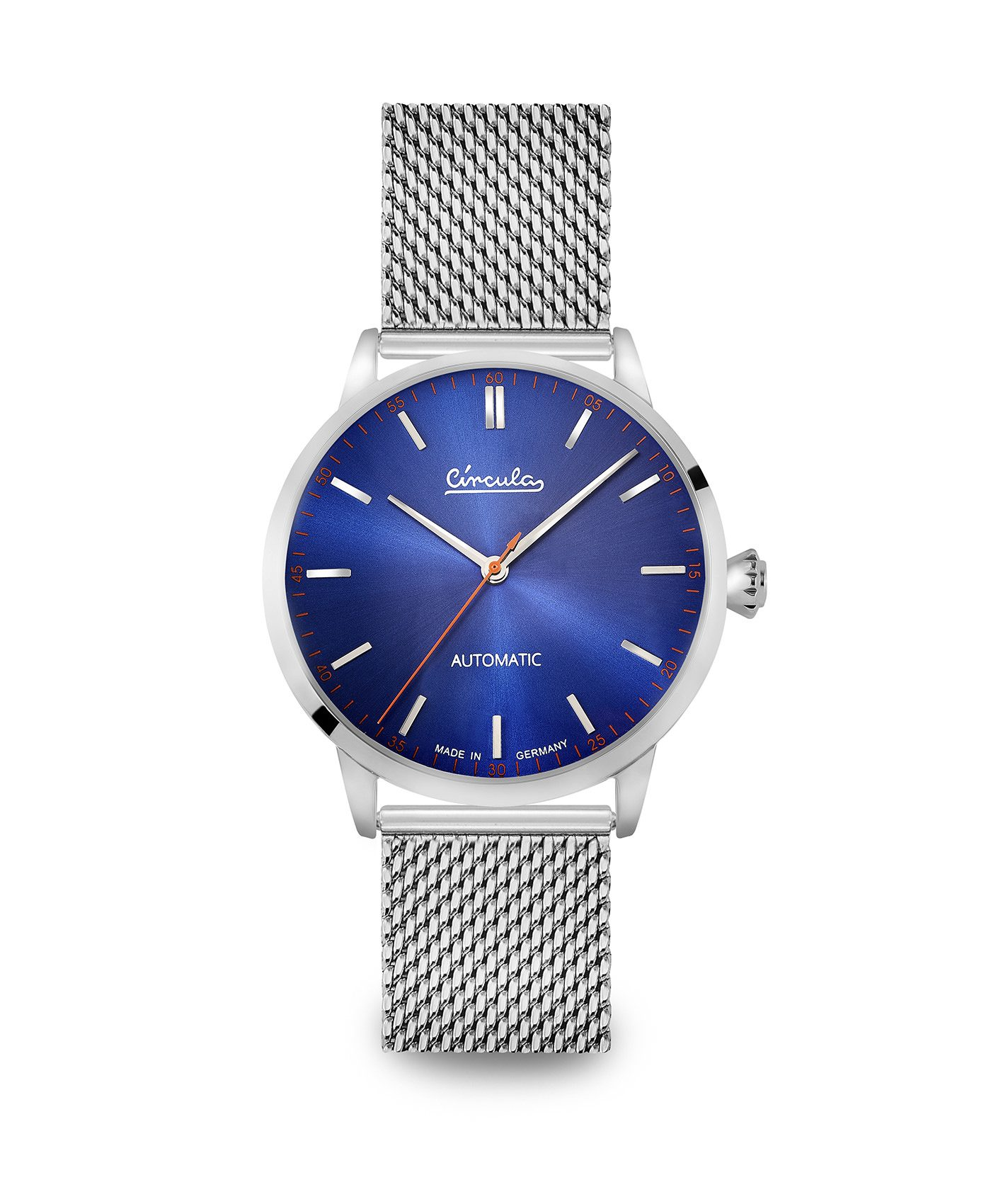 WB Circula - Classic Automatic Blue - Mesh Silver front