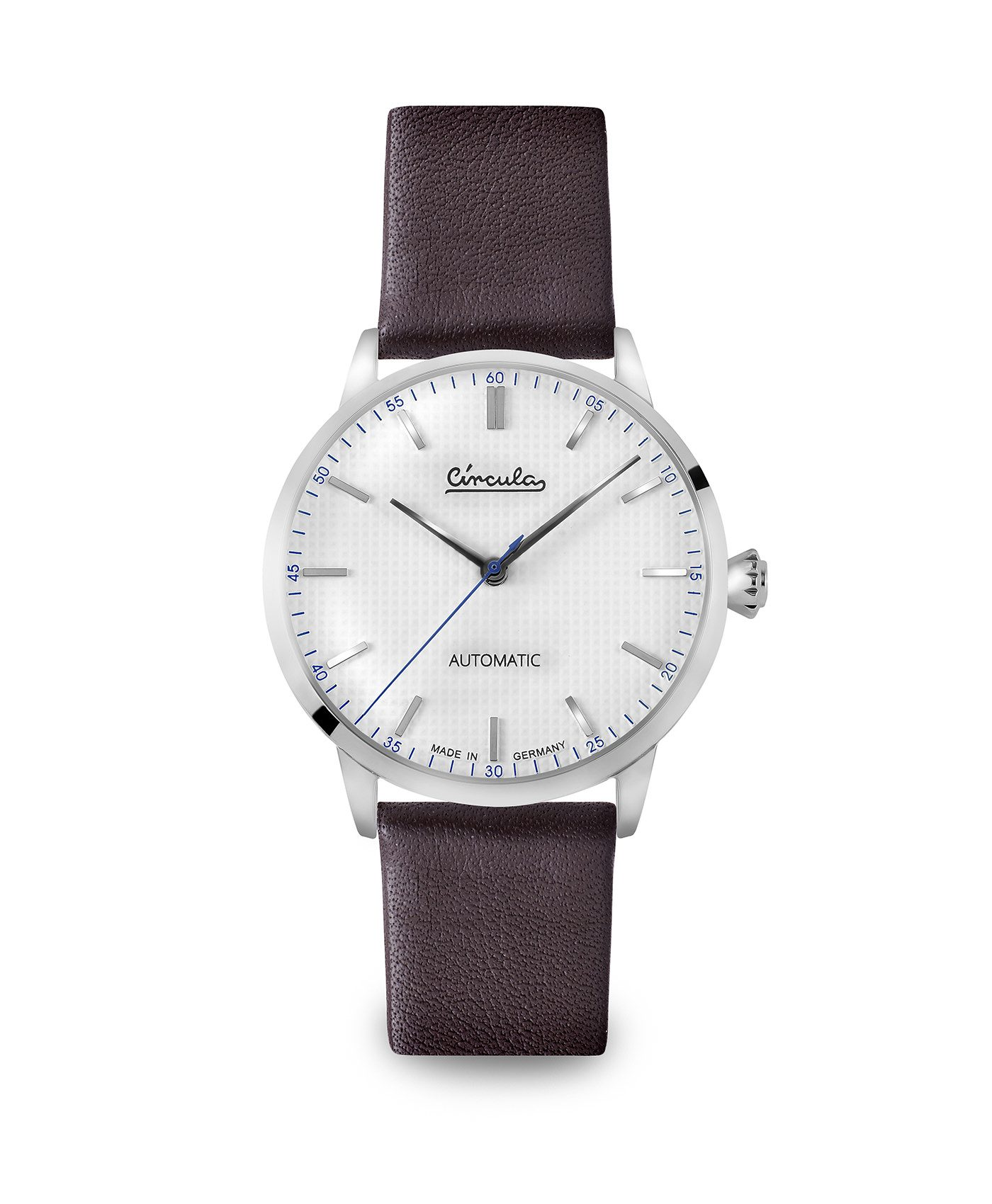 WB Circula - Classic Automatic White - Leather Brown front