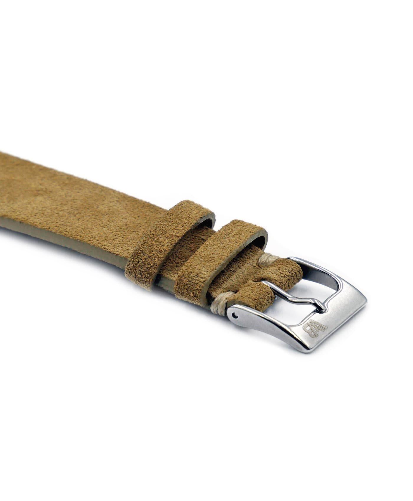 WB original premium suede watch strap beige side buckle