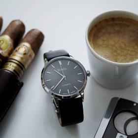 Circula Klassik Automatik Anthrazit Kaffee und Zigarren Uhr