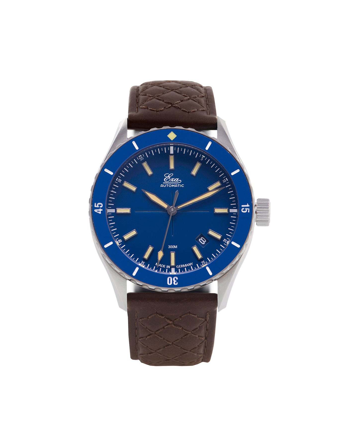 WB_Eza – Sealander –blue – Blue – Diamond Quilted Brown-front